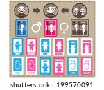 restroom sign | Shutterstock .eps vector #199570091