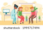 otolaryngologist doctor with... | Shutterstock .eps vector #1995717494