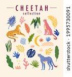 cheetah trendy design elements...   Shutterstock .eps vector #1995730091