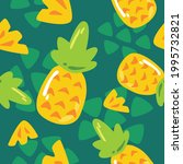 Pineapple Seamless Pattern For...