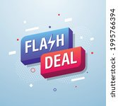 flash deal  marketing banner... | Shutterstock .eps vector #1995766394