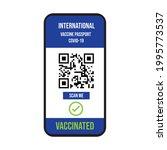 vector mobile phone mock up qr... | Shutterstock .eps vector #1995773537