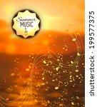 vector blurred sunset... | Shutterstock .eps vector #199577375