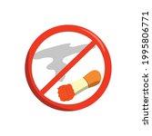 no smoking flat design vector... | Shutterstock .eps vector #1995806771