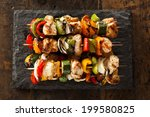 homemade chicken shish kabobs... | Shutterstock . vector #199580825