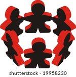 human body shape figure in... | Shutterstock .eps vector #19958230
