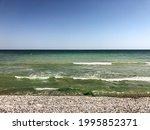 Sea Green Aquamarine Waves Line ...