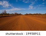 Outback track - stock photo