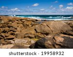 Coastal rocks - stock photo