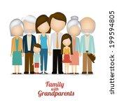 family design over white...   Shutterstock .eps vector #199594805