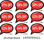37  off  38   39  off  40   41  ... | Shutterstock .eps vector #1995959411