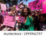 Small photo of Fans and supporters of Britney Spears gather outside the County Courthouse in Los Angeles, Wednesday, June 23, 2021, during a scheduled hearing in Britney Spears' conservatorship case.