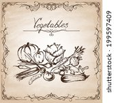 collection of hand drawn... | Shutterstock .eps vector #199597409