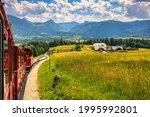 Small photo of Schafberg Railway, a metre gauge cog railway in Upper Austria and Salzburg, from Sankt Wolfgang im Salzkammergut up to the Schafberg. Austria, Salzkammergut, Schafberg, Schafbergbahn, cog railway.