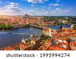 Prague Scenic Spring Aerial...