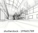 contemporary building | Shutterstock . vector #199601789
