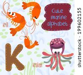 sea very cute  alphabet.k... | Shutterstock .eps vector #199602155