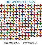 country flags of the world   3d ... | Shutterstock . vector #199602161