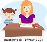 illustration of a kid girl in...   Shutterstock .eps vector #1996041224