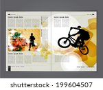 magazine layout vector  | Shutterstock .eps vector #199604507