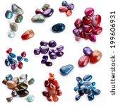 Semiprecious Stones Isolated O...