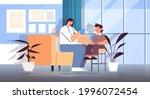 doctor taking swab test for...   Shutterstock .eps vector #1996072454
