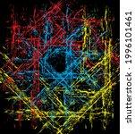 graphic design vector art on... | Shutterstock .eps vector #1996101461