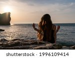 Young Woman With Long Hair In...