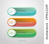 modern vector steps  progress... | Shutterstock .eps vector #199612109