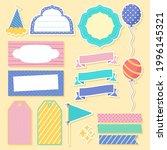 birthday scrapbook design set.... | Shutterstock .eps vector #1996145321