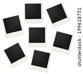 retro blank photo frames  | Shutterstock . vector #199618751