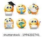 back to school emoji covid 19...   Shutterstock .eps vector #1996202741