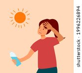 woman suffering from heat and...   Shutterstock .eps vector #1996226894
