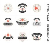 grill and barbecue logos set...   Shutterstock .eps vector #1996278131