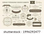 vintage typographic design...   Shutterstock .eps vector #1996292477