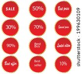 sale stickers and tags with... | Shutterstock .eps vector #199630109