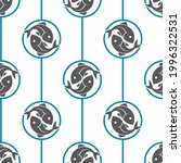 seamless pattern with fish on... | Shutterstock .eps vector #1996322531