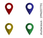 map pin colorful flat design...