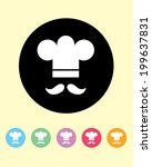 fun and playful vector chef... | Shutterstock .eps vector #199637831