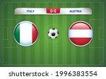 italy vs austria scoreboard... | Shutterstock .eps vector #1996383554
