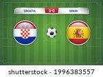 croatia vs spain scoreboard... | Shutterstock .eps vector #1996383557