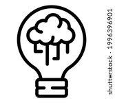 brainstorming bulb icon.... | Shutterstock .eps vector #1996396901