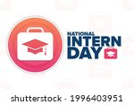 national intern day. holiday...   Shutterstock .eps vector #1996403951