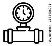 pressure tap icon. outline... | Shutterstock .eps vector #1996406771