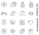 medical icons line drawing  by... | Shutterstock .eps vector #199641755