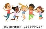 multicultural boys and girls...   Shutterstock .eps vector #1996444217