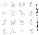 people icons line  drawing by... | Shutterstock .eps vector #199645265