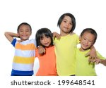 group of children isolated on a ...