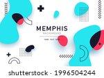 memphis design backdrop...   Shutterstock .eps vector #1996504244