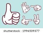 hand sign set   vector... | Shutterstock .eps vector #1996509377